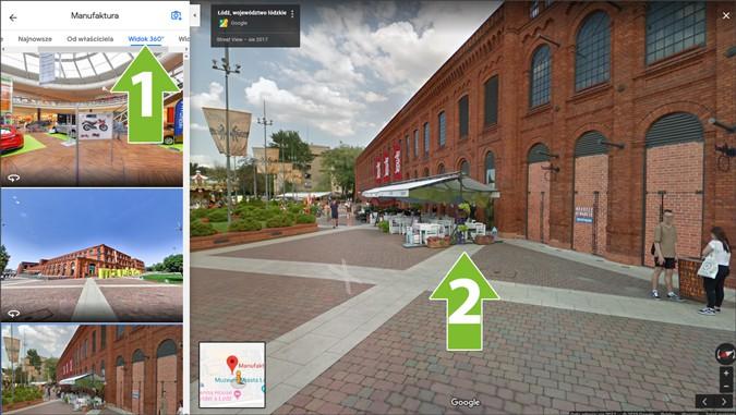 Spacer Google Street View nawitrynie www