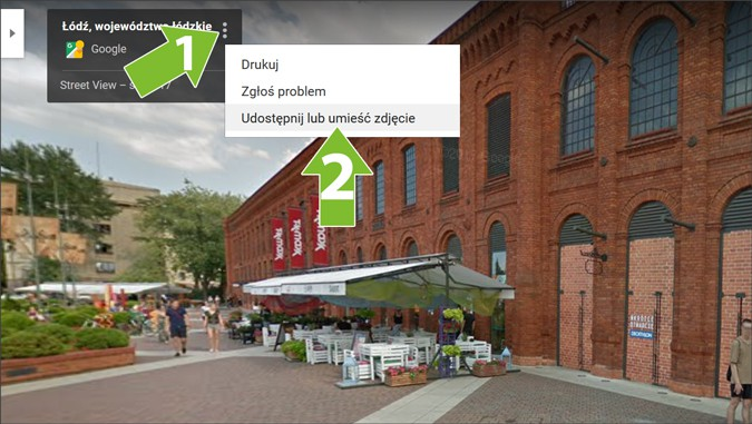 Tworzenie kodu widoku ulicy wGoogle