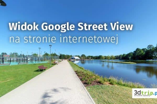 Wirtualna wycieczka od Google na stronie internetowej