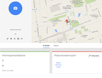 Wizytówka Firmy na Mapach Google