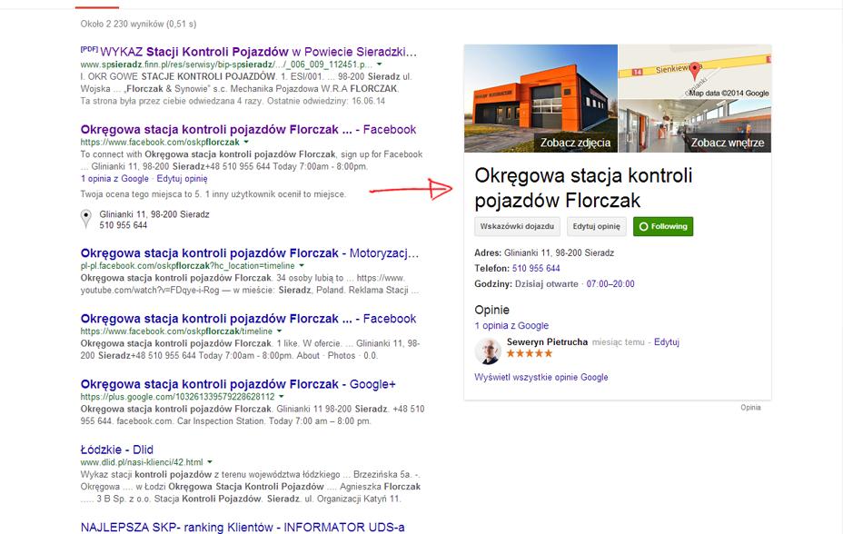 Rozszerzone wyniki wyszukiwania w Google