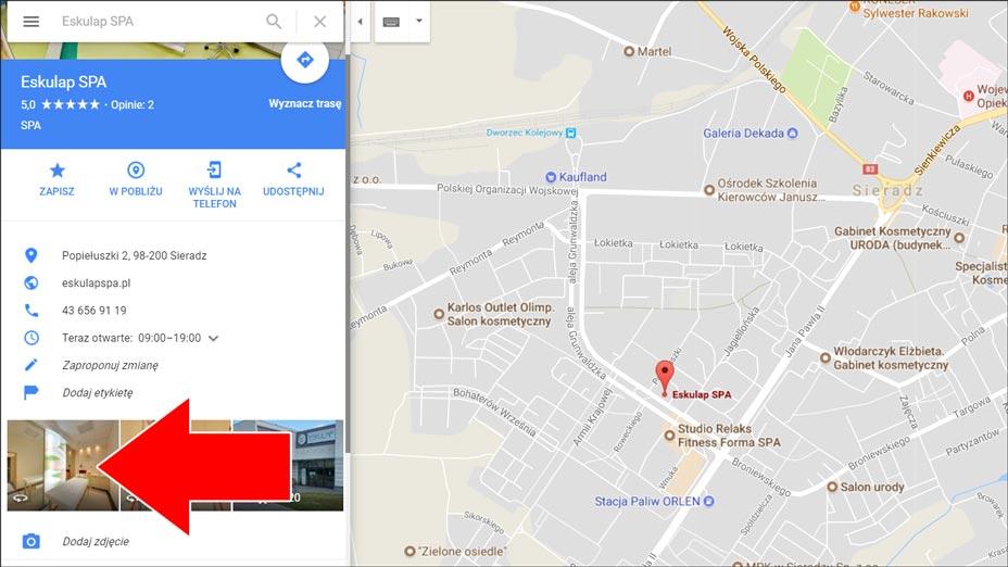 Spacer Google - otwieranie