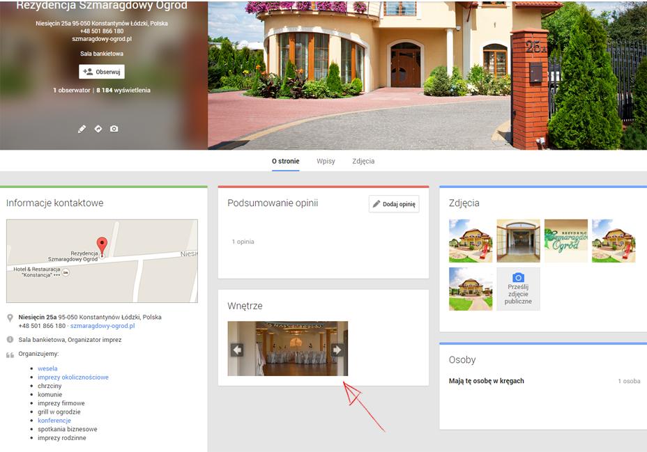 Spacer 360 Google na fanpagu firmy na Facebooku