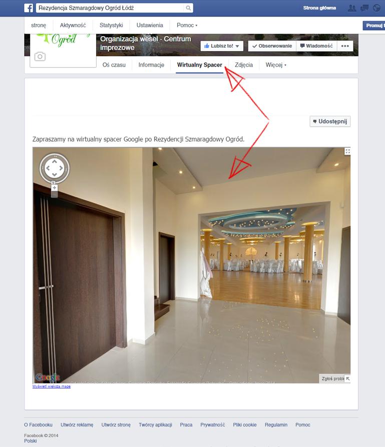 Wirtualny spacer Google na Facebooku