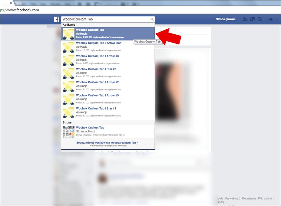Wirtualny spacer Google na Facebooku - poradnik - krok 1