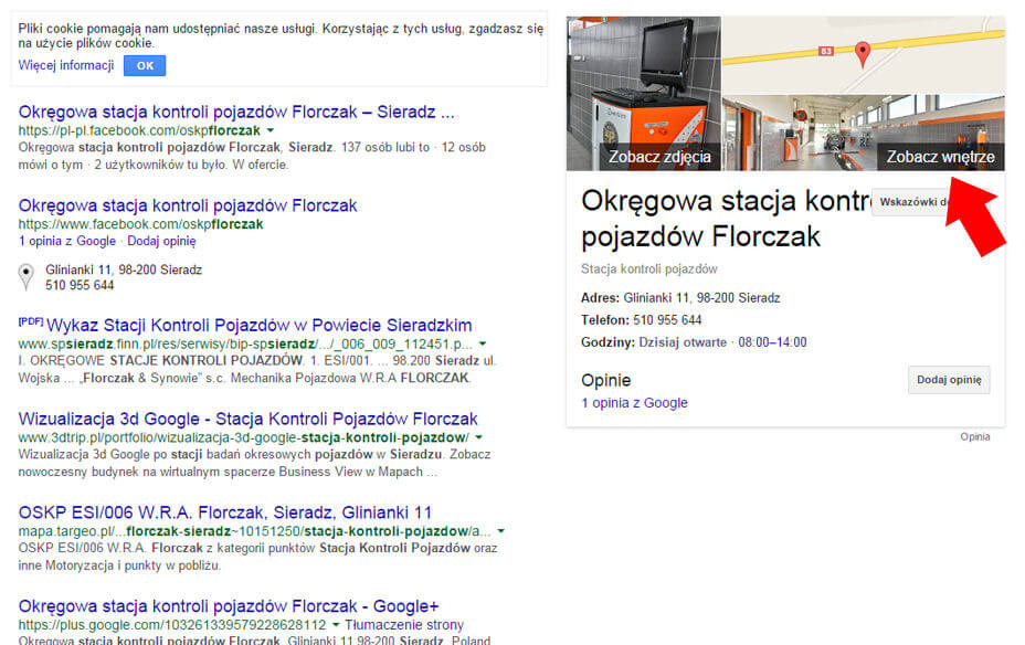 Wirtualny spacer Google w knowledge graph