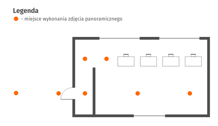 Wirtualny spacer Google - Biuro - scianka - schemat
