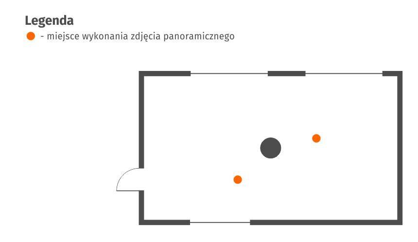 Wirtualny spacer Google - Biuro - filar - schemat