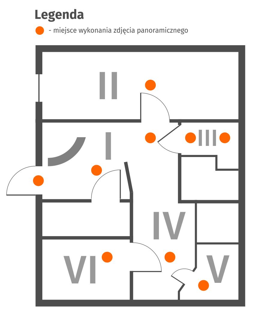 Wirtualny spacer - salon spa - schemat