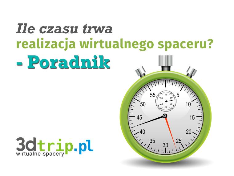 Ile czasu trwa realizacja wirtualnego spaceru? - Poradnik