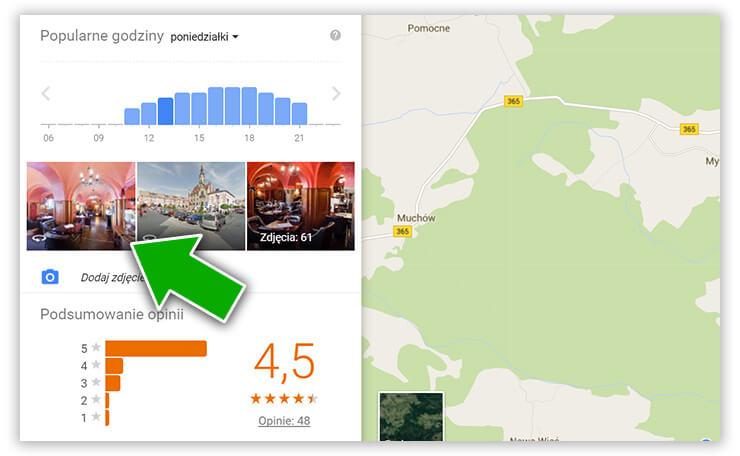 Wirtualny spacer podłączony pod wizytówkę Google w Mapach