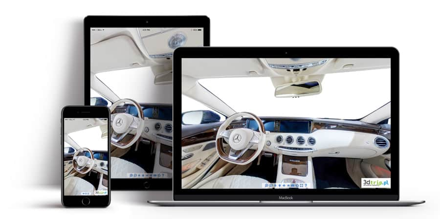 Spacer 3d odtwarzający się na tabletach i smartfonach