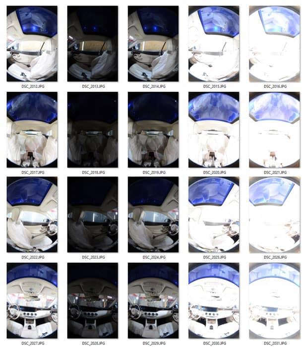 Zdjęcia składowe dofotografii sferycznej