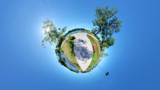 Panorama sferyczna z powietrza - widok typu mała planeta