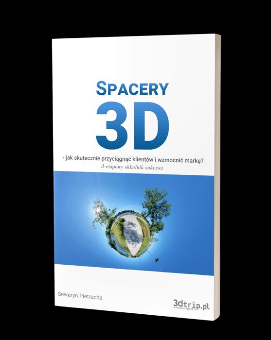 Okładka e-booka na temat spacerów 3d