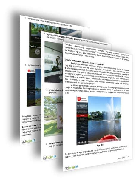 Wnętrze e-booka o spacerach 360