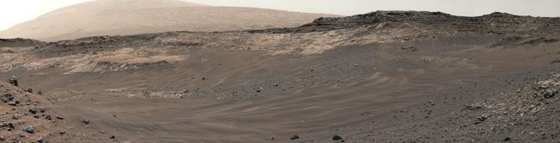 Zdjęcie panoramiczne zpowierzchni Marsa